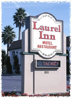 Laurel Inn Sign framed